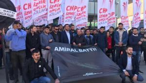 CHP'nin Gençlerinden siyah çelenk