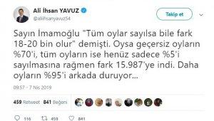 AK Parti İstanbul'da tüm oyların sayılması için YSK'ya başvurdu