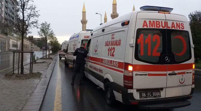 Ankara özel halk otobüsü kaza yaptı: 10 yaralı