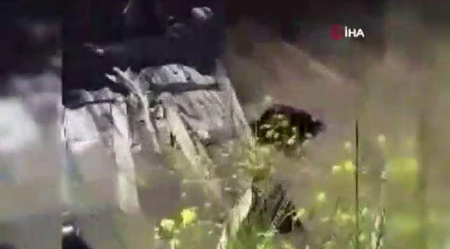 Aracıyla kanala uçtu boğulmaktan son anda kurtarıldı
