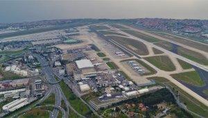 Atatürk Havalimanı'nın boş hali havadan görüntülendi