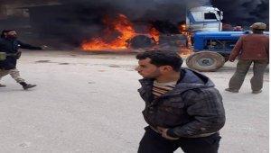 Azez'de petrol tankeri patladı
