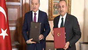 Bakan Çavuşoğlu Tacikistanlı mevkidaşıyla bir araya geldi
