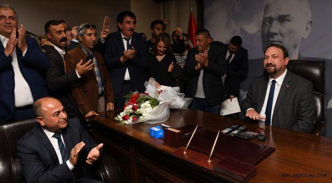 Başkan Utku Gümrükçü görevi devraldı