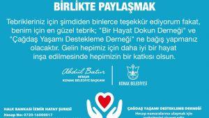 Batur; Çiçek değil bağışta Bulunun