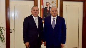 Binali Yıldırım'dan Başkan Turan'a ziyaret