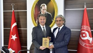 Bornova Kaymakamı Genel'den Başkan İduğ'a ziyaret