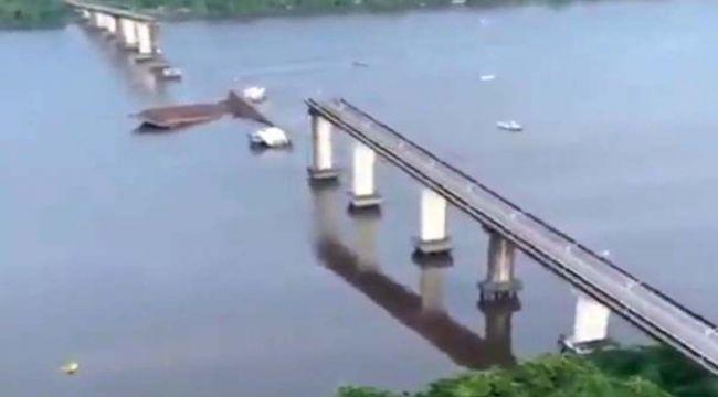 Brezilya'da nehrin üzerindeki köprü çöktü