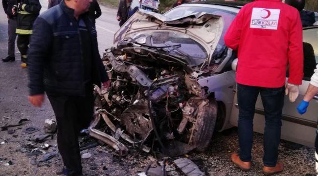 Bursa'nın Orhaneli ilçesinde kaza: 2 ölü, 8 yaralı