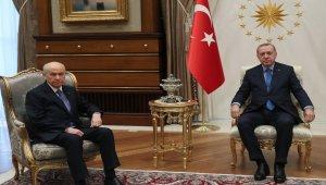 Cumhurbaşkanı Erdoğan, Devlet Bahçeli'yi kabul etti