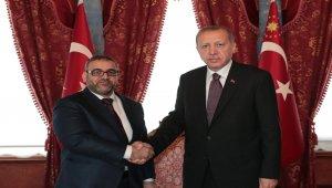 Cumhurbaşkanı Erdoğan ile El Meşri görüşmesi başladı