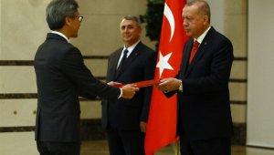 Cumhurbaşkanı Erdoğan, Singapur Büyükelçisini kabul etti