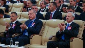 Cumhurbaşkanı Erdoğan Yüce Divan Salonundaki törene katıldı