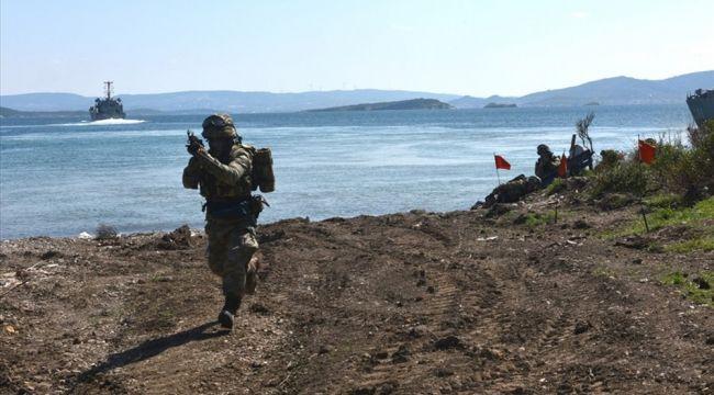 Deniz ve Kara Kuvvetlerinden ortak 'Amfibi Hücum Eğitimi'