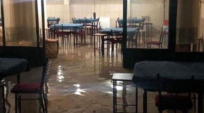 Elazığ'da 4 ev ve 1 iş yerini su bastı