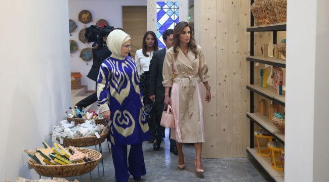 Emine Erdoğan, Ürdün Kraliçesi ile görüştü