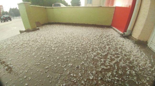 Eskişehir'de dolu yağışı