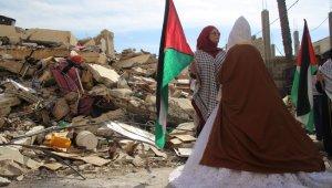Evi bombalanınca Hamas liderinin evinden gelin çıktı