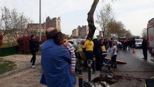 Fatih'te sıkışmalı kaza: 2'si ağır 5 yaralı