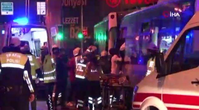 Fireni boşalan Halk Otobüsü 5 araca çarptı