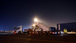 İstanbul Havalimanı'na giden araç konvoyu havadan görüntülendi