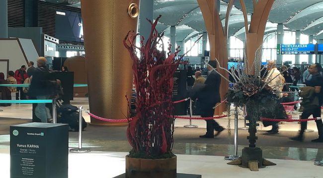 İstanbul Havalimanı'ndaki atıklar sanat eserine dönüştü