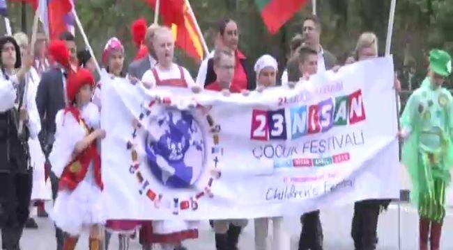 KKTC'de 23 Nisan Çocuk Festivali açılışı coşkuyla başladı