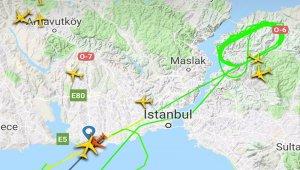 Kuş sürüsüne çarpan kargo uçağı Atatürk Havalimanı'na geri döndü
