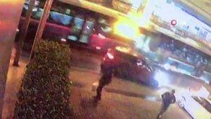 Mecidiyeköy'de otobüs kazası kamerada