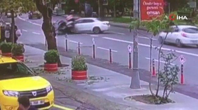 Sarıyer'de motosiklet sürücüsü ölümden döndü
