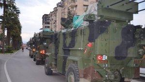 Sınıra askeri sevkıyat devam ediyor
