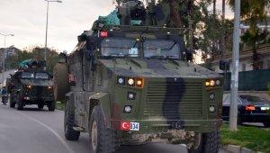 Sınıra komando ve zırhlı araç sevkiyatı