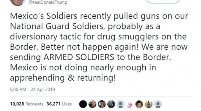 Trump Meksika sınırına asker gönderiyor