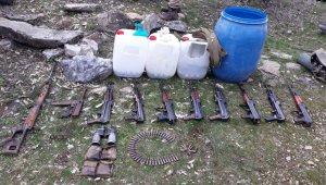 Tunceli'de mağara ve silah deposu imha edildi