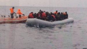 Yunanistan'a kaçmak isteyen 41 göçmen böyle yakalandı