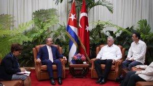 Bakan Çavuşoğlu Küba Devlet Başkanı Canel ile görüştü