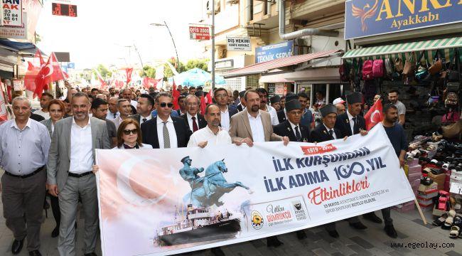 Çiğli'de 100.yıl kutlamaları kortejle başladı