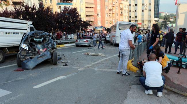 Freni patlayan otobüs 10 aracı biçti: 6 yaralı