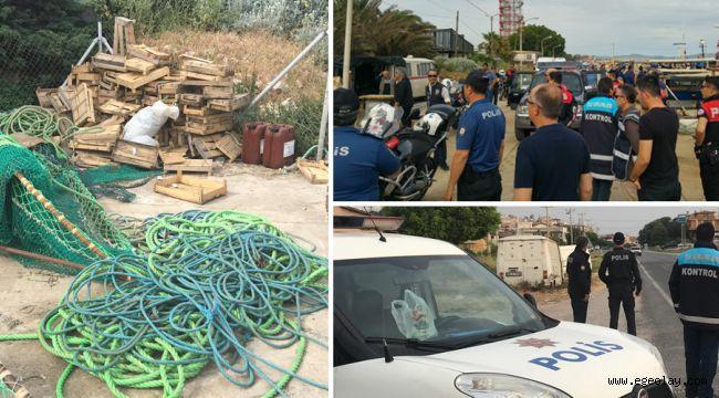 İzmir'de yasa dışı deniz patlıcanı avcılığına büyük darbe