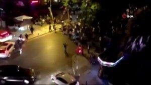 Kutlama yapan Galatasaray taraftarına şişeli, kemerli saldırı