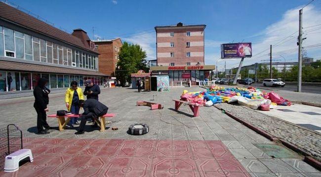 Şişme oyun parkı rüzgara kapıldı: 5 çocuk yaralandı