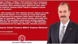 Tamer Osmanağaoğlu'ndan Hasan Tahsin Mesajı