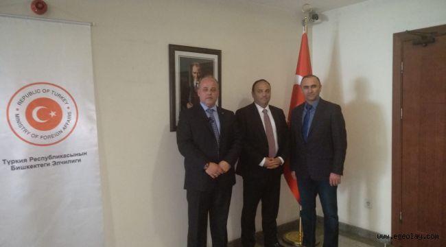 Türk İş Adamlarından Kırgızistan Türkiye Büyükelçisine Ziyaret