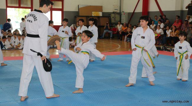 Gaziemir'in taekwondocularından kuşak mücadelesi