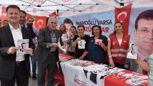 Serdar Aksoy İmamoğlu'na destek için İstanbul'da