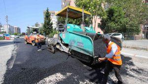 Bayraklı Sokaklarına 47 Bin ton Asfalt
