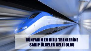 Dünyada en hızlı trenlerine sahip olan ülkeleri belli oldu