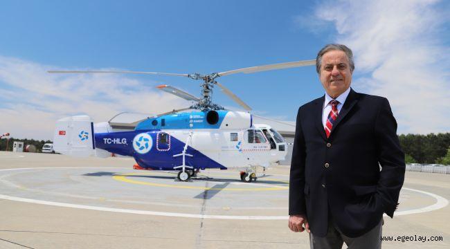 Kaan Air'ınTürk tescilli ve Türk bayraklı helikopterleri orman yangınları operasyonlarına başladı