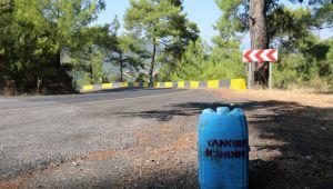 Marmaris'te yangına karşı su bidonu geleneğine devam
