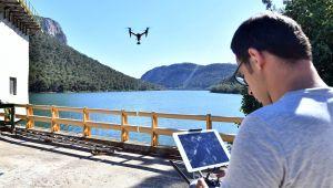 Barajlar drone ile koruma altında